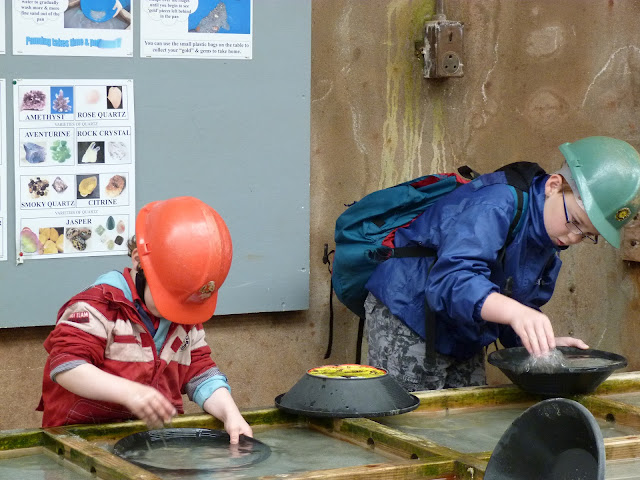 Panning for gold at Geevor Tin Mine