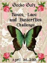 Roses, Lace, and Butterflies Challenge