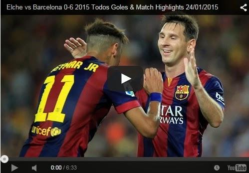 Highlights Liga Spanyol : Elche 0-6 Barcelona