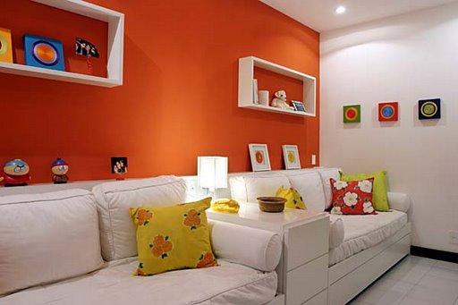 Pintando ambientes laranja pode trazer mais vida ao ambiente - Reparacion de humedades en paredes ...