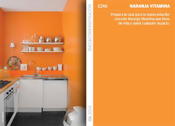 Pinturas valentine decorar tu casa es - Pintura naranja pared ...