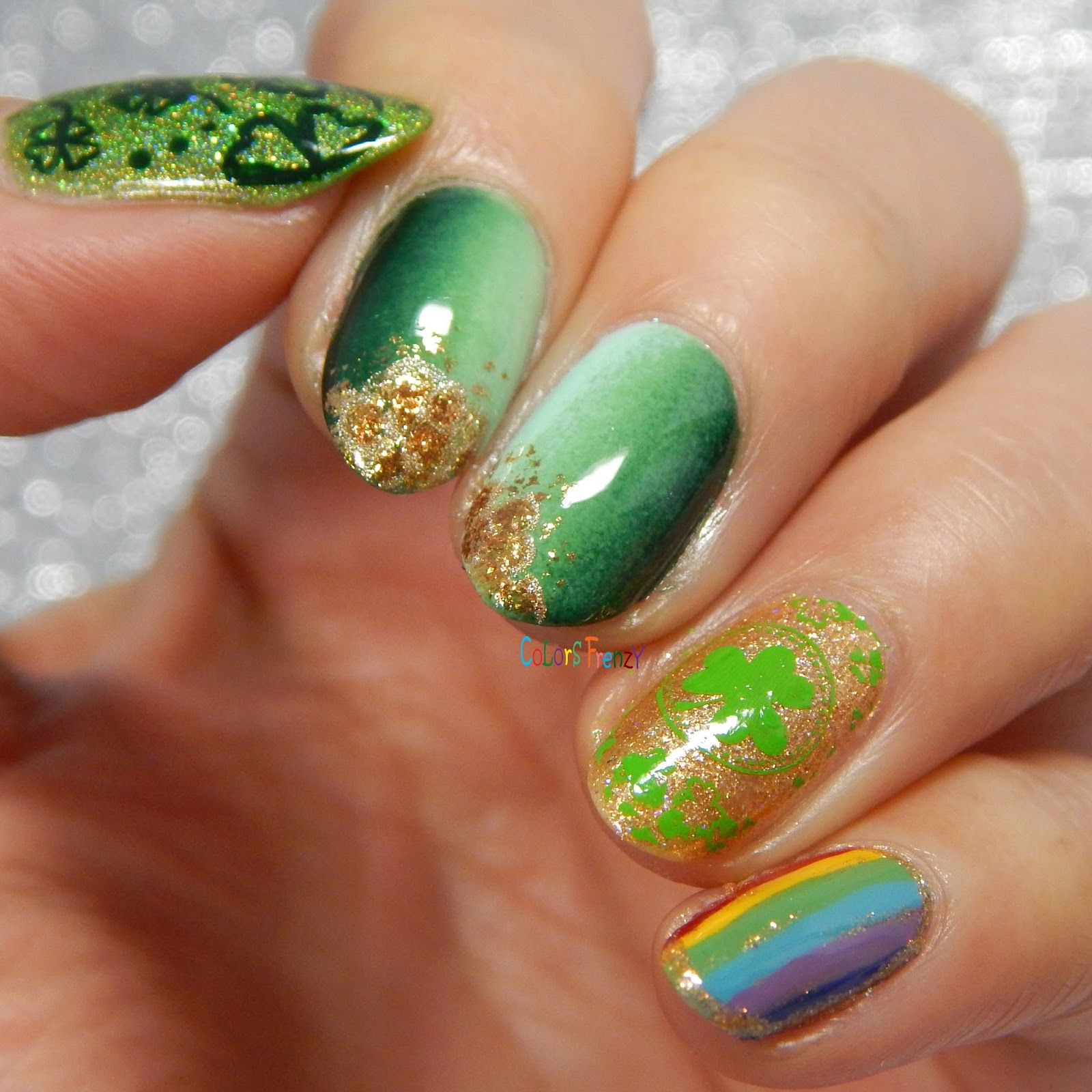 Colors Frenzy: St. Patrick\'s Day Nails