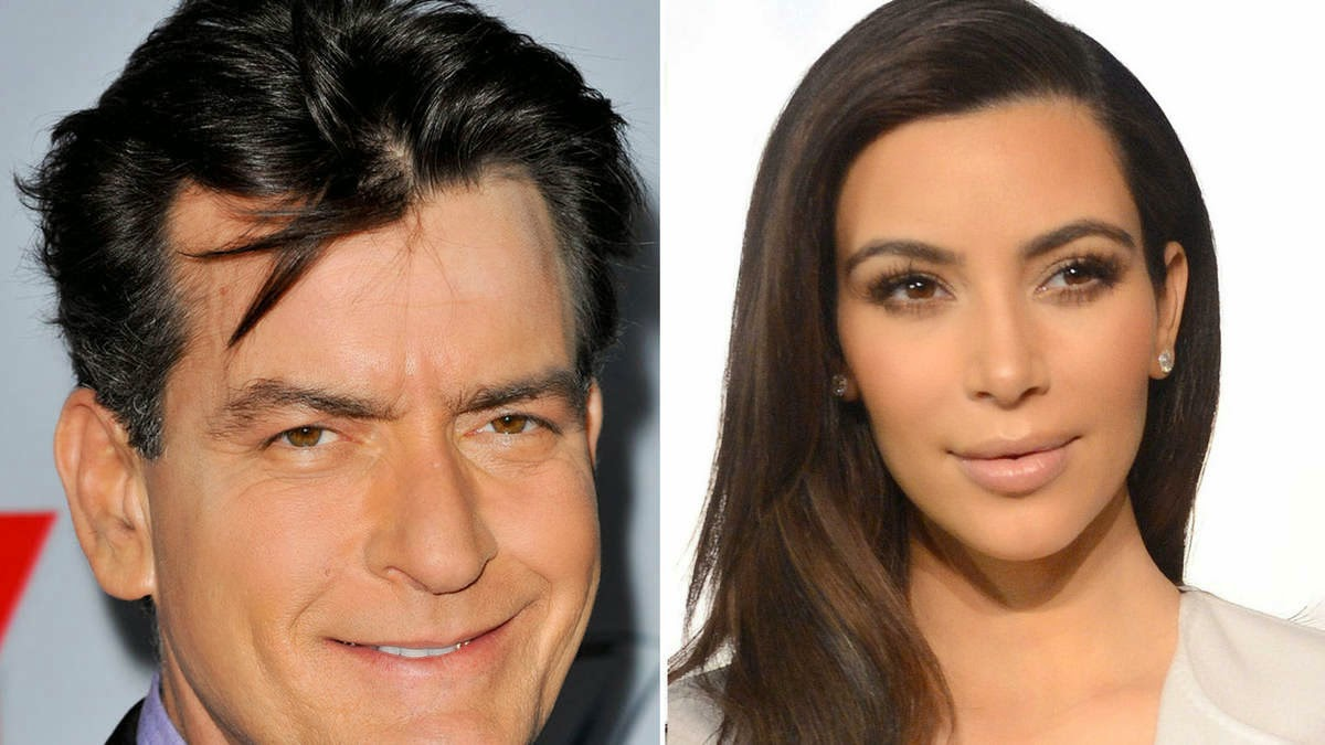 Charlie Sheen calls out Kim Kardashian ass