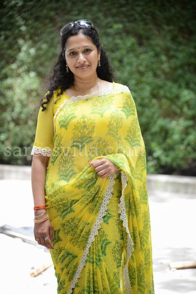 Anitha Chowdary In Yellow Saree