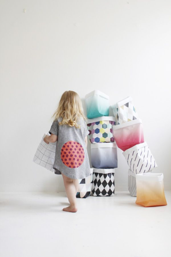 paper storage baskets for kids from varpunen