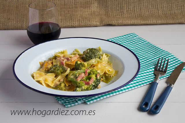 Receta de pasta con brocoli para Chef o Matic Pro