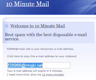 10minutemail Online Services to Send Disposable Emails