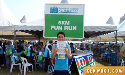 kl marathon 2012 5km finisher