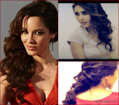 007 SKYFALL BOND GIRL, Berenice Marlohe: FORMAL HALF-UP UPDO TWIST WITH CURLS, HAIR TUTORIAL FOR LONG HAIR