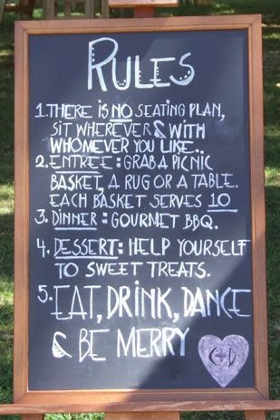 wedding chalkboard deco