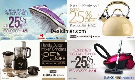 Appliances upto 60% off + 25% Cashback - PayTM (Best Deals Added)