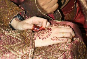 sticker inai pengantin