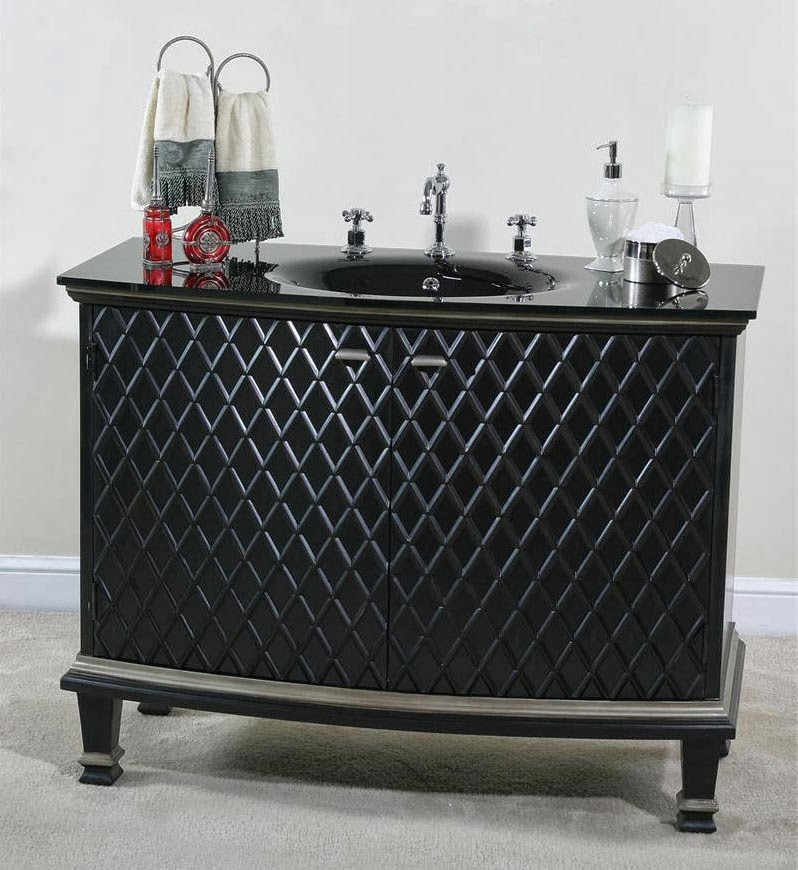 Ultimate accents bathroom vanities - Black bathroom sink cabinets ...