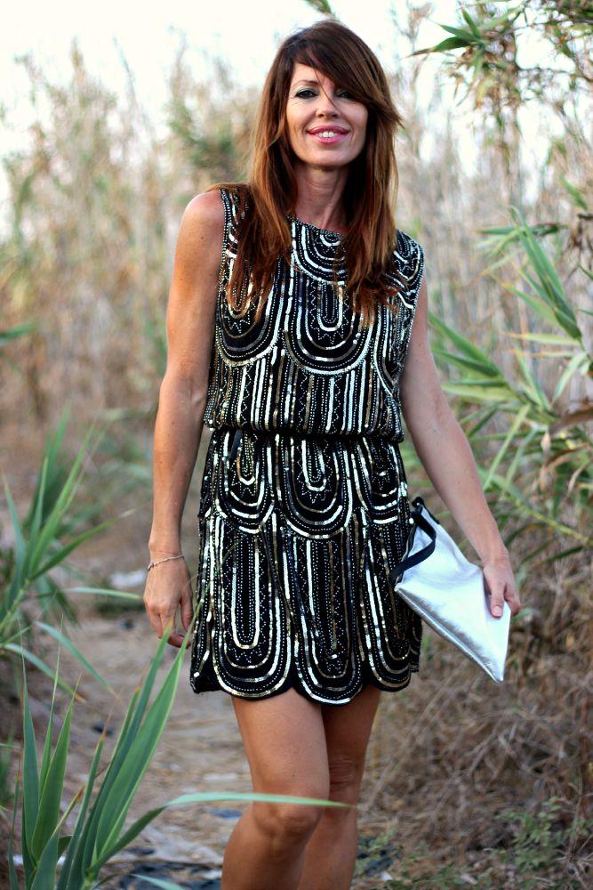 Vestido paillettes - Sheinside - Compras online - Streetstyle - Atardecer