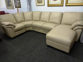 Italsofa Tan Leather Sectional I130