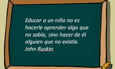 Frase de John Ruskin