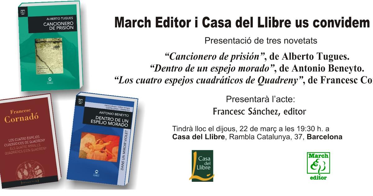 Francesc cornad presentaci n y lectura de poemas - Casa del libro barcelona rambla catalunya ...