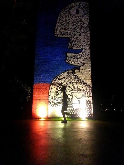 Fernando nos treinos noturnos no Parque do Povo