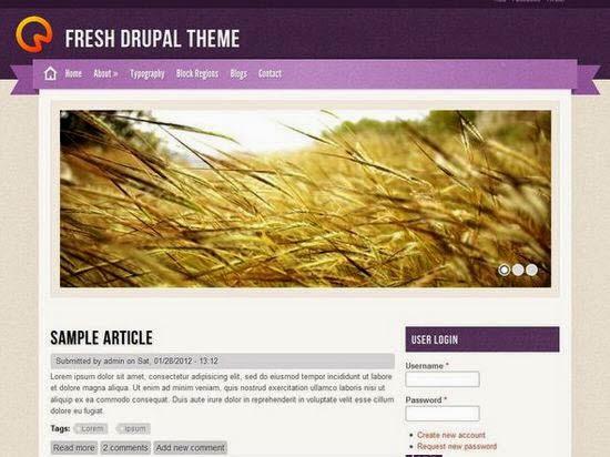 15 Free Drupal 7 Responsive Themes 2014