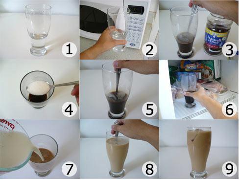 عمل القهوة المثلجه بالصور