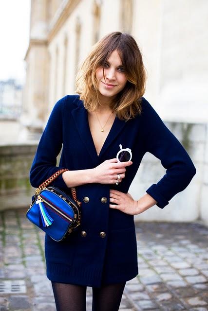 alexa chung wearing blazer