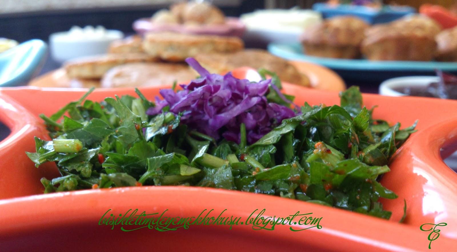 baharatlı ekşili maydanoz salatası