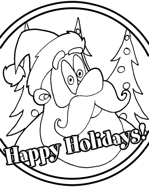 Printable Coloring Pages For Holidays : Happy holiday coloring pages