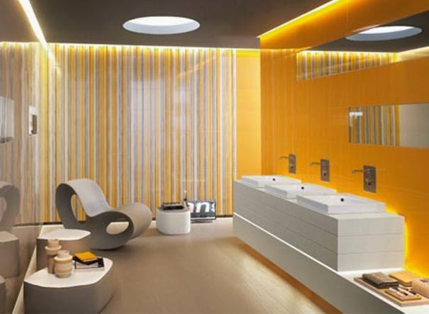 Baño Amarillo Decoracion: de Interiores: Instale en Casa un Baño Amarillo Iluminado y Alegre