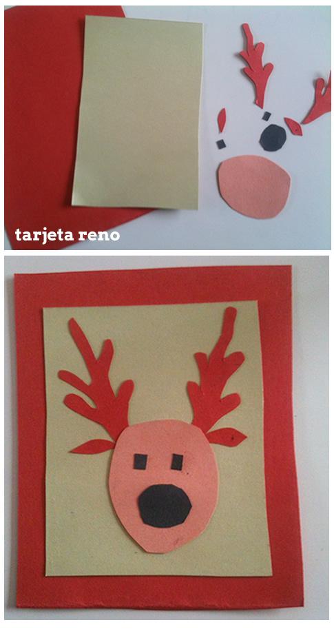 Dibujos para colorear tarjetas navide as caseras - Crear postal navidena ...