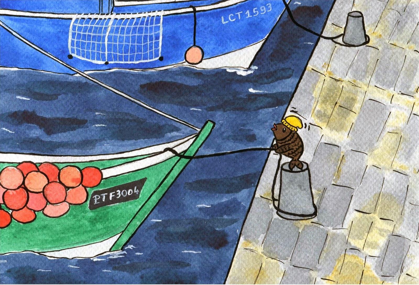 L'activité du port, où les bonnets jaunes sont essentiels