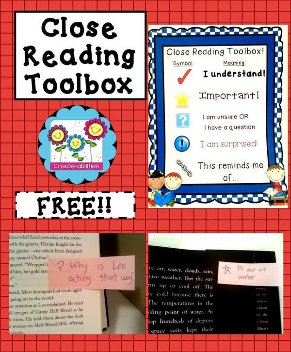 1.http://www.teacherspayteachers.com/Product/Close-Reading-Toolbox-CCSS-Aligned-713442