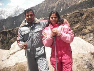 sweet couple at Manali