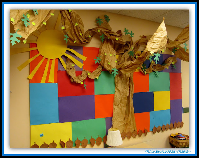 Preschool Bulletin Board (Classroom Decor RoundUP at RainbowsWithinReach)