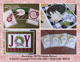 CHRISTMAS RETREAT KITS / EVERYTHING YOU NEED TO MAKE 18 CARDS.
