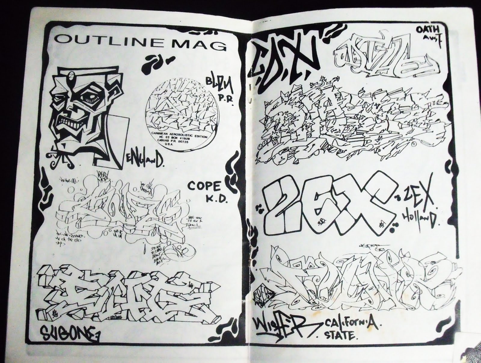 In the early 80s phase 2 pulled out what i think was the first graffiti zine if he even sees me ueing the word graffiti im gonna here it