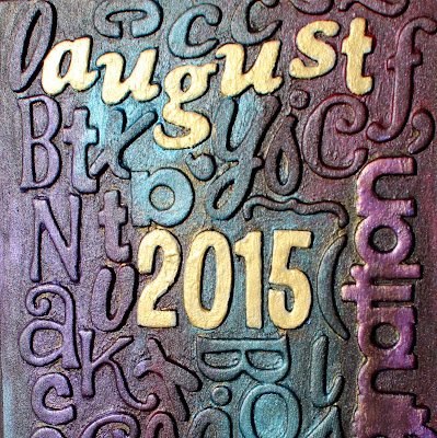 Mixed Media Art Journal cover detail by Ilene Tell