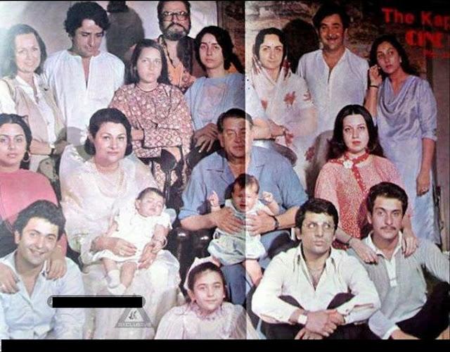 Raj kapoor's Family