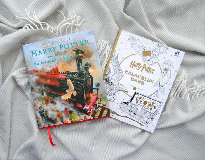 Harry Potter Illustrated Edition & Harry Potter Colouring Book. Christmas Presents 2015 on Lovely Witches