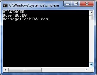 Enter IP address and Custom Message