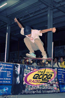 Local Skater Eric Perez with an Ollie