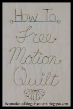 Learn to free motion quilt