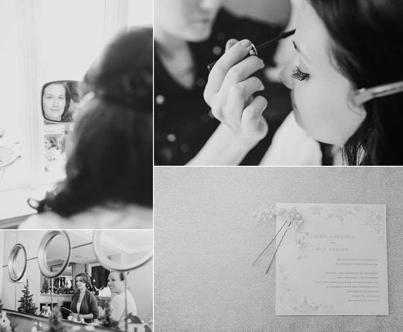 black and white bride getting ready photo