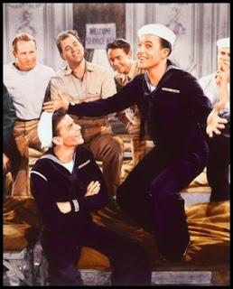 Frank Sinatra y Gene Kelly en Levando anclas