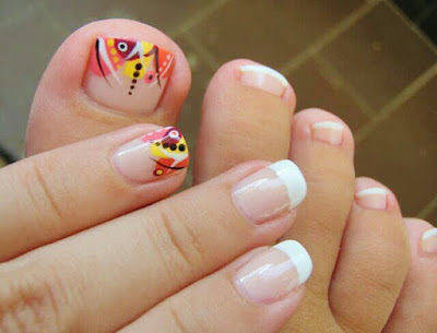 diseños de uñas para pies