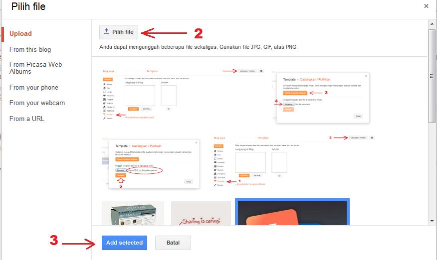 Cara Memasukan Gambar Pada Postingan Blog