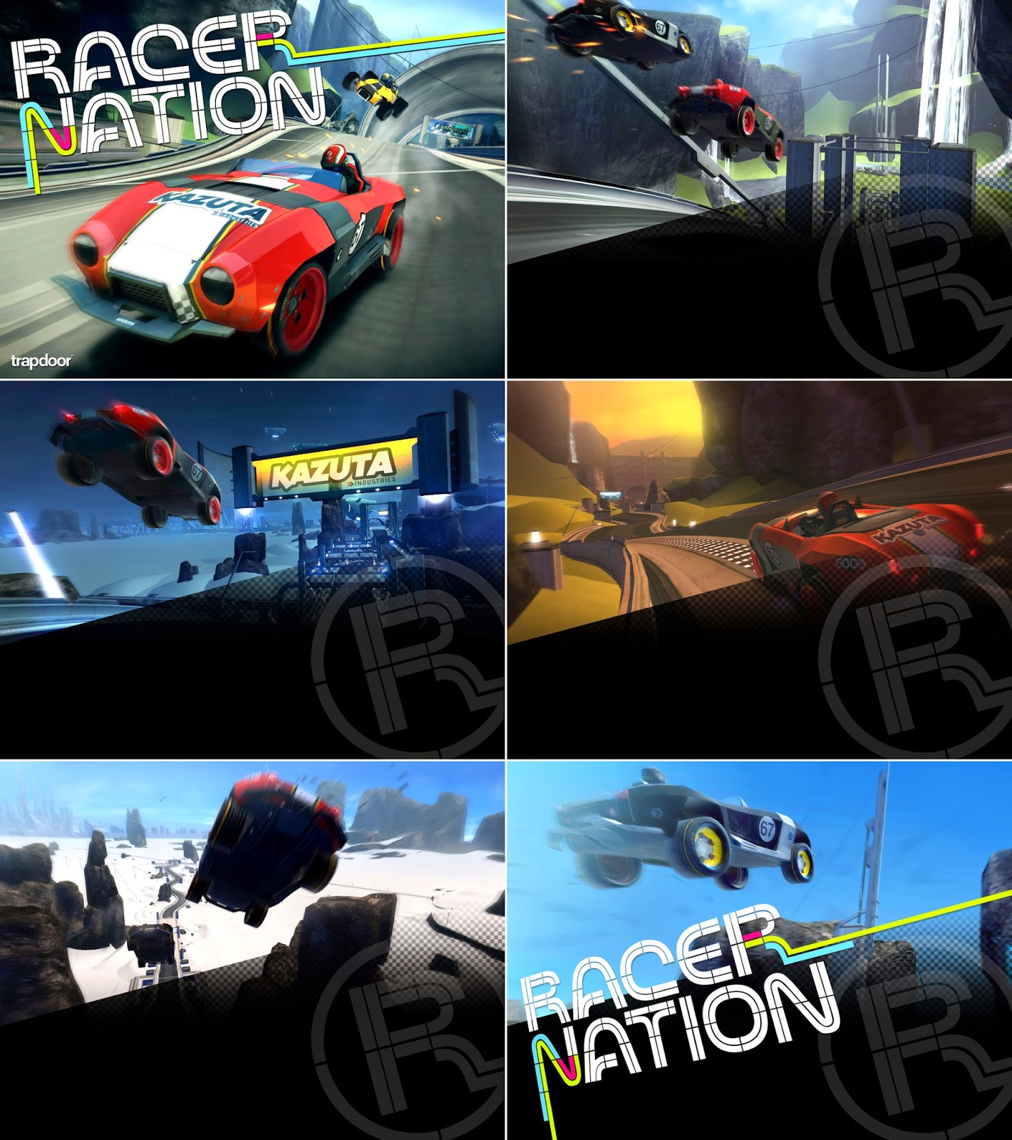 Loading screens teamwork and RSR (early name) promo poster test ...