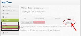 Lowongan kerja data entry part time cara membuat code invitation masih di menu affiliate codes pilih add new code stopboris Choice Image