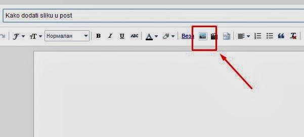 Kliknite na ikonicu koja predstavlja sliku
