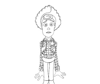 #12 Sheriff Woody Coloring Page