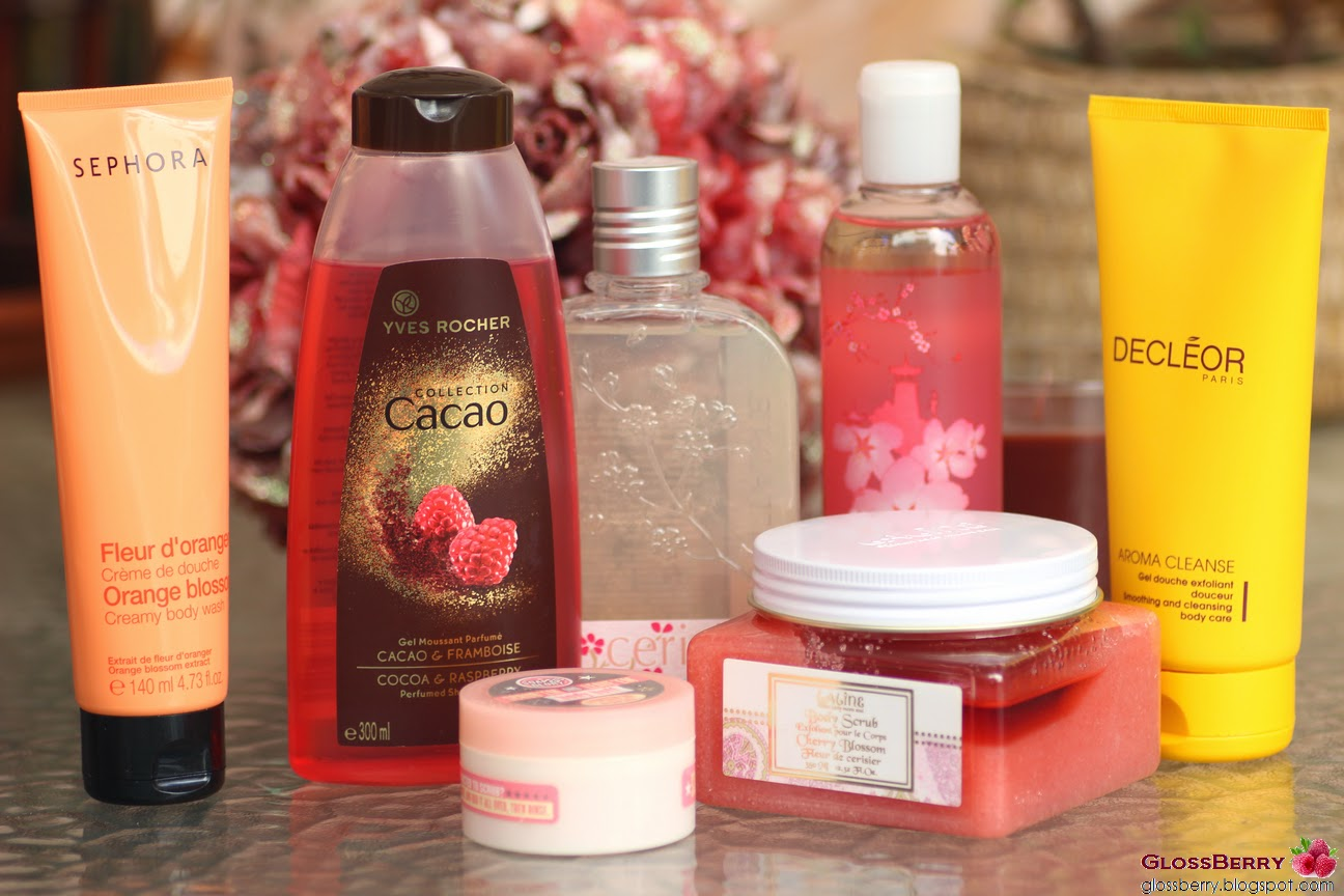 Sephora, Body Shop, Yves Rocher, Decleor, L'occitane, Soap and Glory, Laline